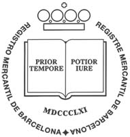 Logo Registro mercantil y bienes muebles de Barcelona