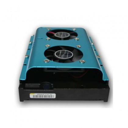 Doble ventilador disco duro color azul
