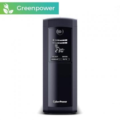 CyberPower VP1200ELCD 1200VA/720W, 5 enchufes + LCD + USB + GREENPOWER