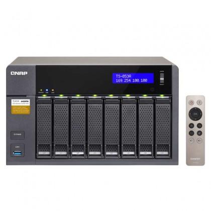 TS-853A-4G NAS 8 bahías - Intel Celeron N3150 4 núcleos a 1.6 GHz (hasta 2.08GHz), 4GB DDR3L (ampliable a 16GB)