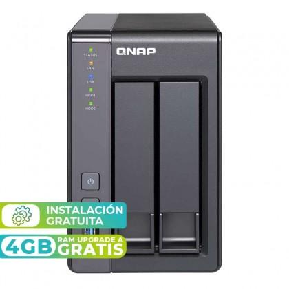 TS-251+-2G NAS 2 Bahías - Intel Celeron 4 núcleos 2.0GHz (hasta 2.42GHz), 2GB DDR3L (max 16GB)