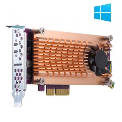 QM2-2P-244A Tarjeta de expansión PCIe con doble M.2 NVME