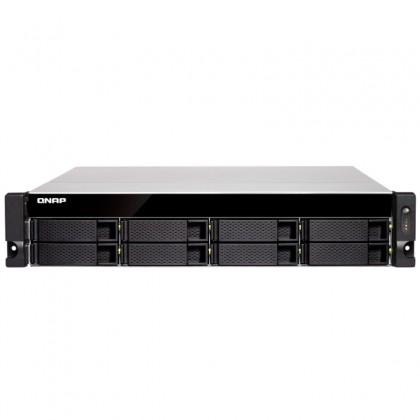 TS-877XU-RP-2600-8G NAS rack 8 Bahías - AMD Ryzen 5 2600 6 núcleos a 3.4GHz (hasta 3.9GHz), 8GB DDR4 (max 64GB)