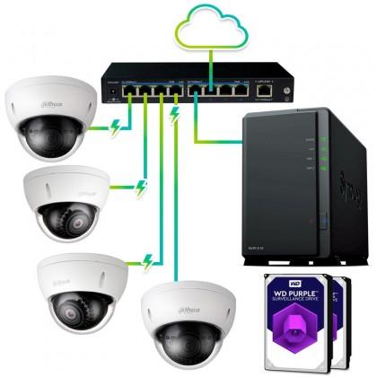Pack vigilancia IP profesional 4 cámaras