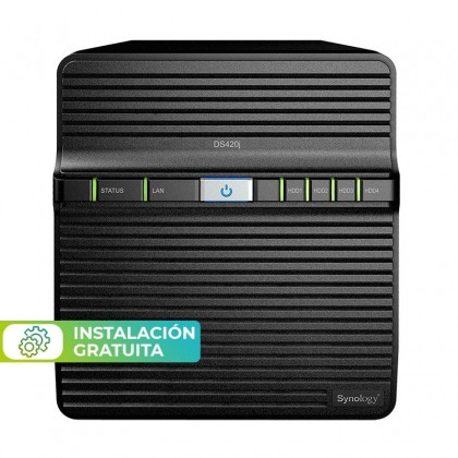 DS420J NAS 4 bahías - Realtek RTD1296 4 núcleos 1.4 GHz, 1GB DDR4