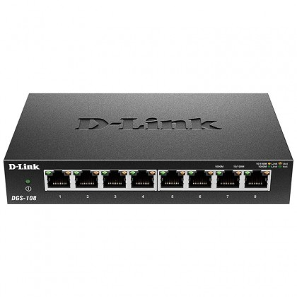 DGS-108 Switch 8 puertos Gigabit LAN