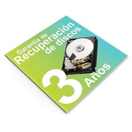 Garantía de Recuperación de Datos 3 años, NAS 2 discos
