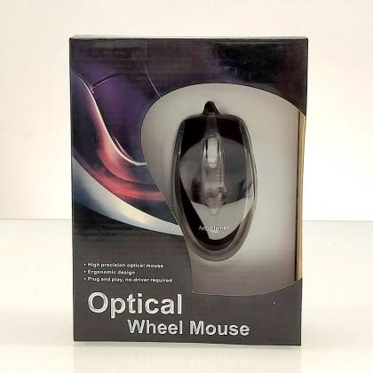 Ratón óptico negro PS2