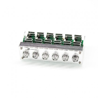 SBT-RHK-EX-SV Controlador de ventiladores Frontal Rheobus Extreme Plata