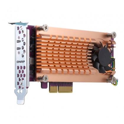 QM2-2P-344 Tarjeta de expansión PCIe con doble M.2 NVME