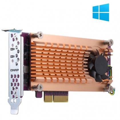 QM2-2P-384 Tarjeta de expansión PCIe con doble M.2 NVME