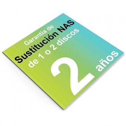 Garantía de Sustitución 2 años, NAS 1 o 2 discos