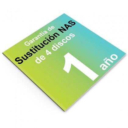 Garantía de Sustitución 1 año, NAS 4 discos