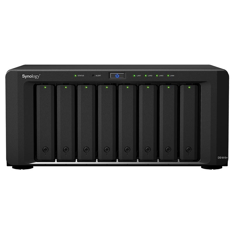 DS1815+ NAS 8 discos Ampliable - Intel Atom Quad Core 2.4 GHz - RAM 2GB (Ampliable 6GB)