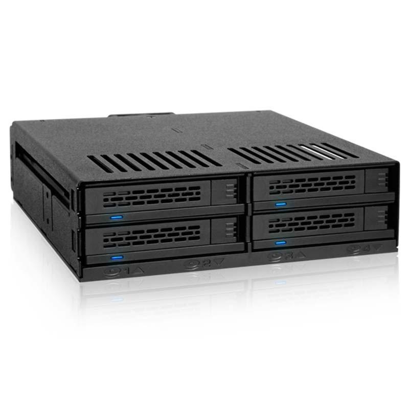 """MB324SP-B 4 Bahías 2.5"""" SAS/SATA HDD & SSD Hot Swap para bahía de 5.25"""""""