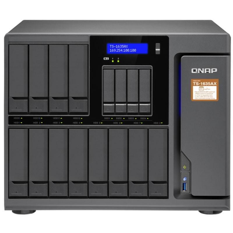 TS-1635AX-4G NAS 16 bahías 12xHDD 4xSSD - Marvell ARMADA 8040 64-bit quad-core 1.6 GHz, 4 GB DDR4
