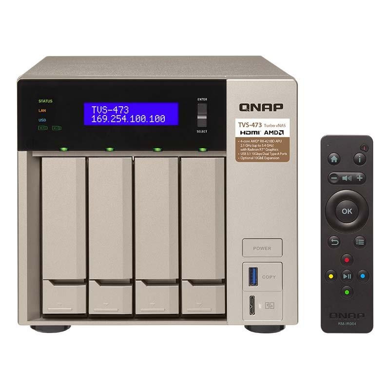 TVS-473-8G NAS 4 Bahías - AMD RX-421BD 4 núcleos 2.1 GHz (hasta 3.4GHz) 8GB DDR4