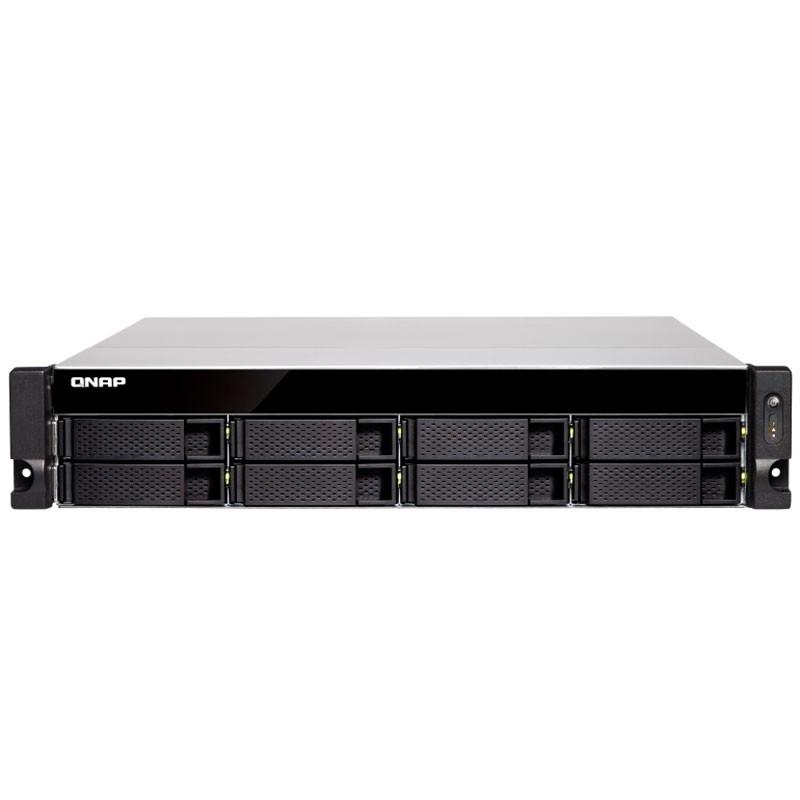 TS-877XU-RP-2600-8G NAS Rack 8 Bahías - AMD Ryzen 5 2600 6 núcleos a 3.4 GHz (Hasta 3.9 GHz), 8GB DDR4 (ampliable a 64GB)