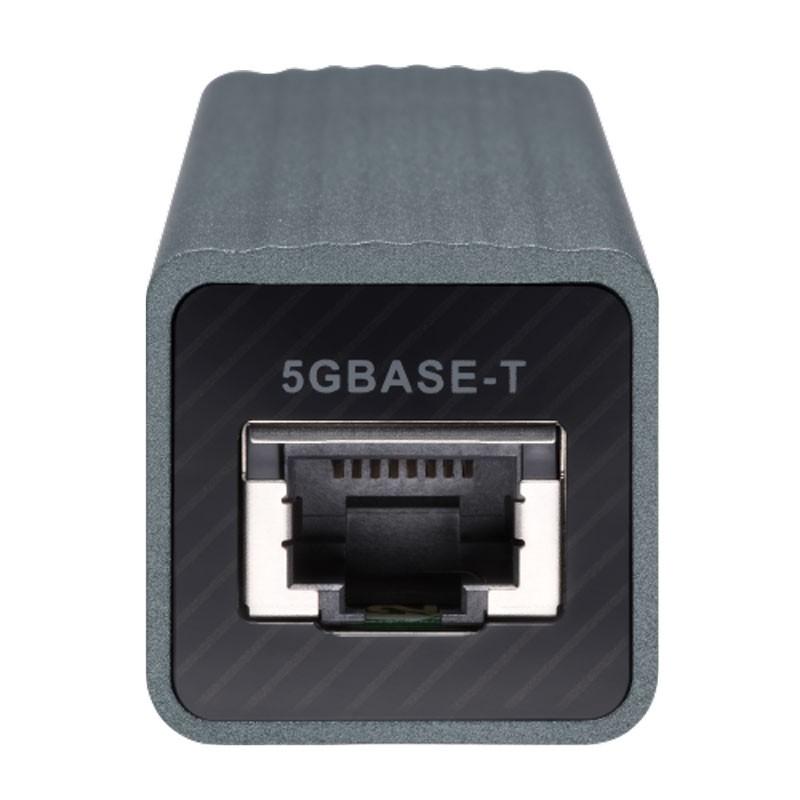 Adaptador de USB 3.0 a 5GbE de QNAP.