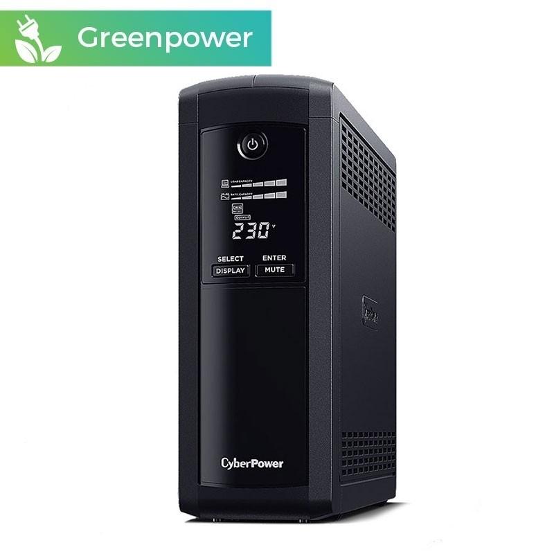 SAI CyberPower VP1600ELCD 1600VA/960W 5 enchufes + LCD + USB + GREENPOWER