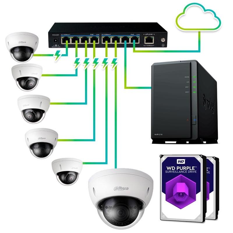 Pack Vigilancia 6 cámaras
