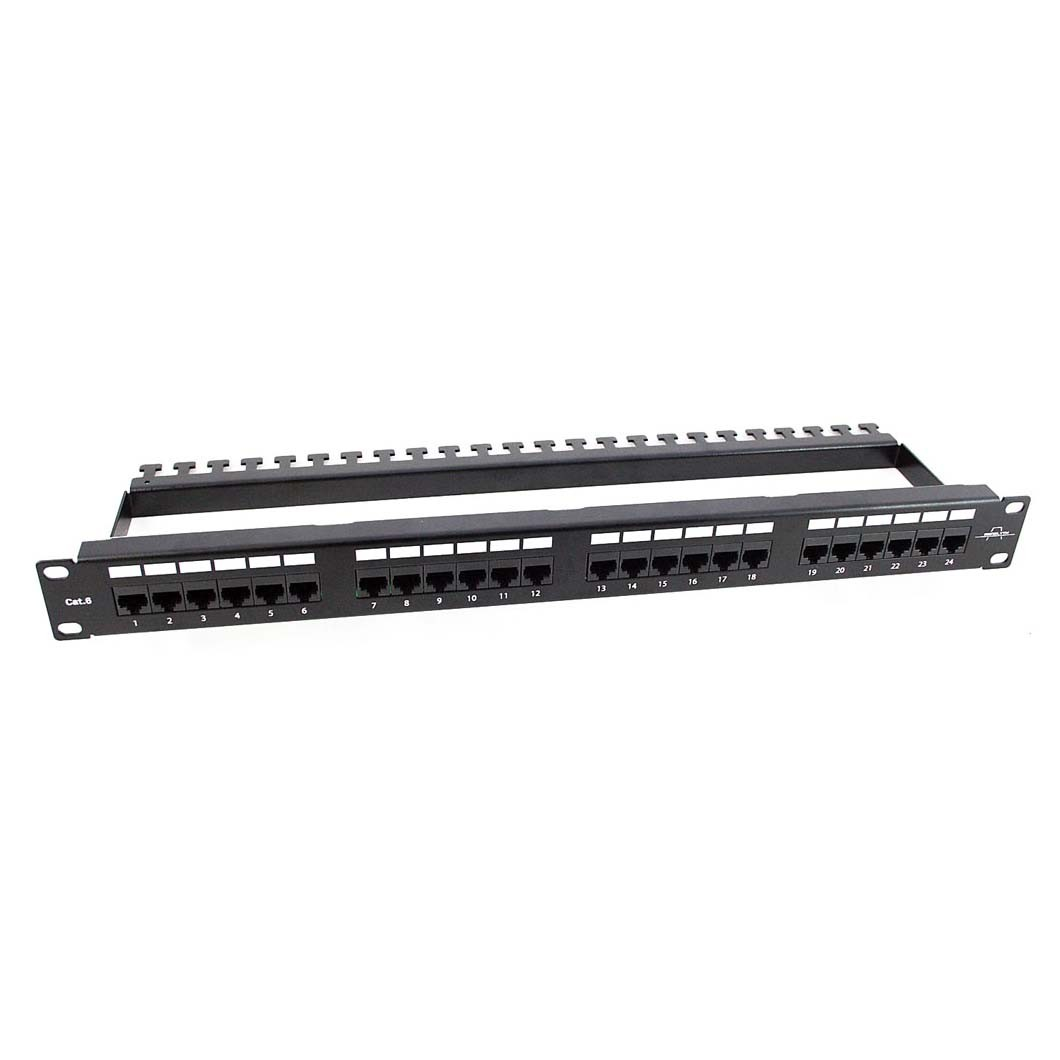 Patch Panel 24 puertos CAT 5 y 6