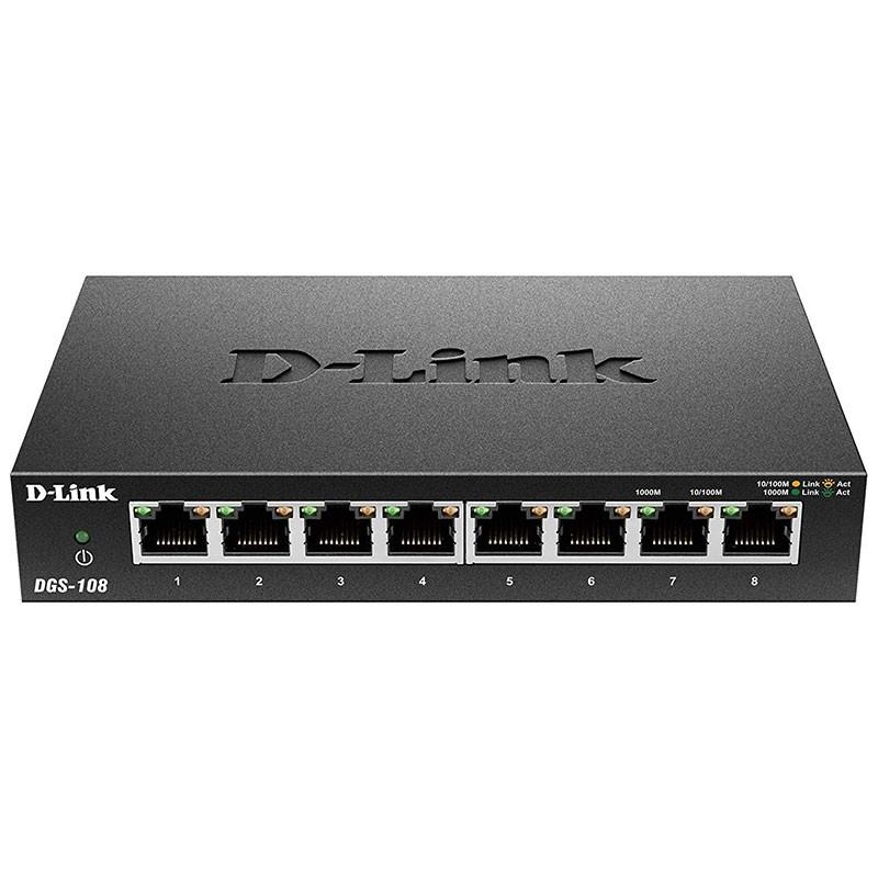 Switch DGS-108 D-Link 8 puertos