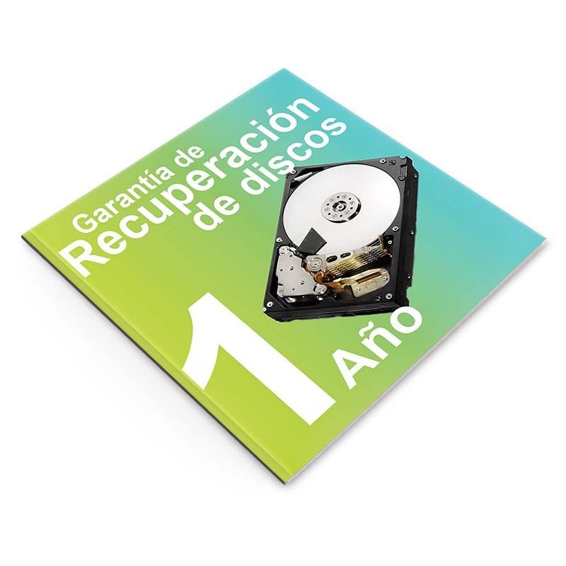 Garantía de Recuperación de Datos 1 año, NAS 4 o 5 discos