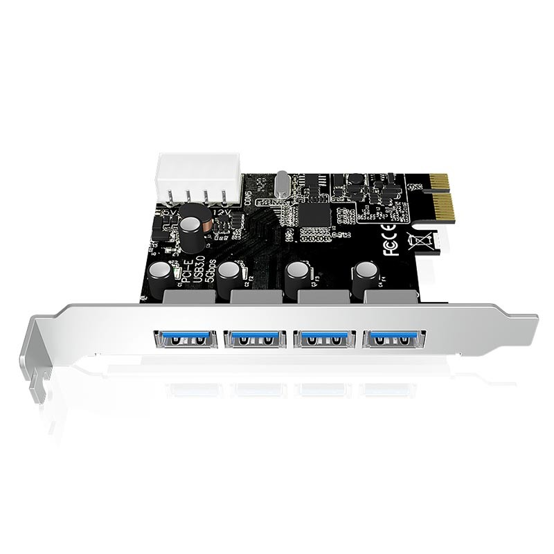 IB-AC614a tarjeta de expansión con 4 USB 3.0 y conexión PCI-E