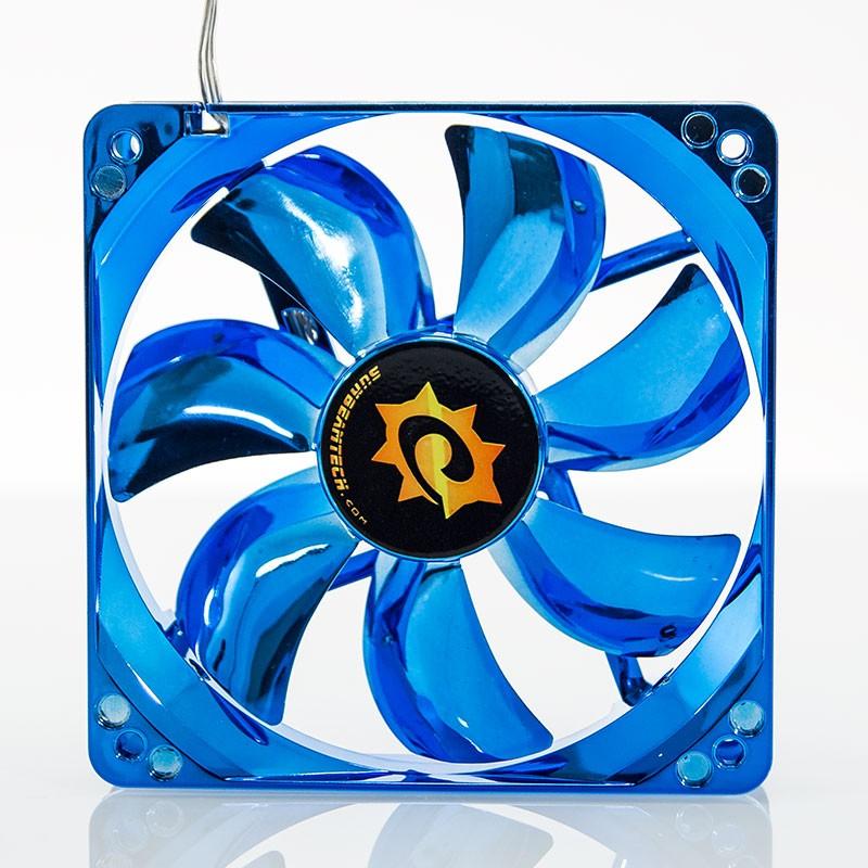 Silent Anodized Azul Ventilador de 120mm con LED