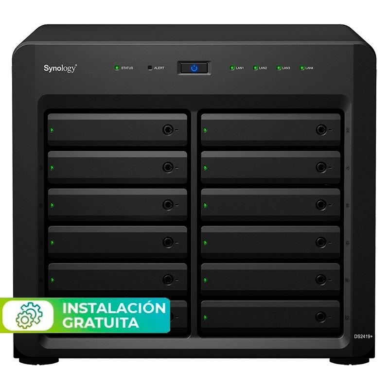DS2419+ NAS 12 Bahías - Intel Atom C3538 4 núcleos 2.1GHz, 4GB DDR4 (max 8GB)