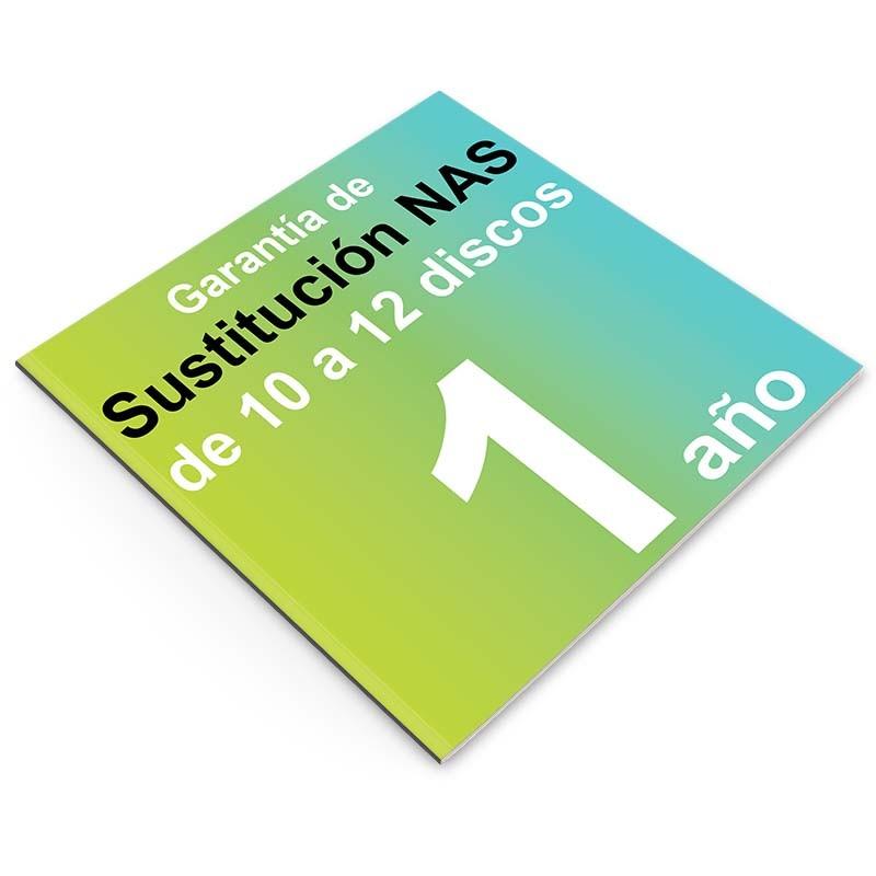 Garantía de Sustitución 1 año, NAS 10 o 12 discos