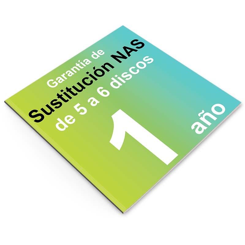 Garantía de Sustitución 1 año, NAS 5 o 6 discos
