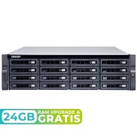 TS-1673U-RP-16G NAS rack 16 Bahias (M.2 SATA x2) - AMD R-Series RX-421ND 4 núcleos 2.1GHz (hasta 3.4GHz), 16GB DDR4 (max 64GB)