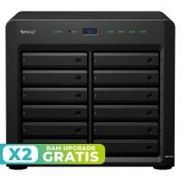 DS2419+ NAS 12 Bahías - Intel Atom C3538 4 Núcleos 2.1GHz, 4GB DDR4