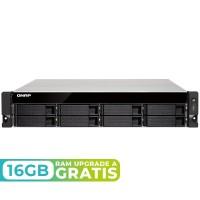 TS-877XU-1200-4G NAS rack 8 Bahías (SSD x2) - AMD Ryzen 3 1200 4 núcleos 3.1GHz (hasta 3.4GHz), 4GB DDR4 (max 64GB)