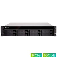 TS-877XU-RP-3600-8G NAS rack 8 Bahías - AMD Ryzen 5 3600 6 núcleos a 3.4GHz (hasta 3.9GHz), 8GB DDR4 (max 64GB)