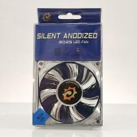Silent Anodized Silver Ventilador de 120mm con LED