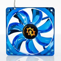 Silent Anodized Azul Ventilador de 120mm con LED