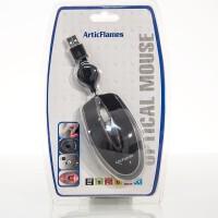 AH-MO526 Ratón USB para portátil con cable retráctil (Pack 20)