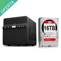 Promoción Synology DS416j Servidor NAS de 4 Bahías - con 4 discos WD Red Edición NAS