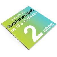 Garantía de Sustitución 2 años, NAS 10 o 12 discos