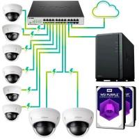 Pack vigilancia IP profesional 8 cámaras - Grabación 30 días 24hrs