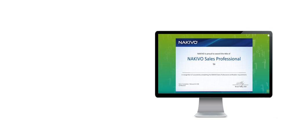 ¡Obtén el Certificado de Ventas NAKIVO!