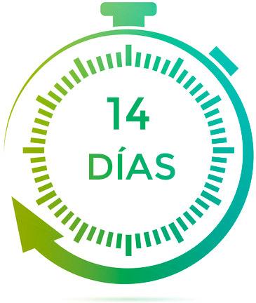 14 días de garantía Qloudea